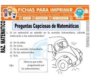 Preguntas Capciosas de Matemáticas para Segundo de Primaria