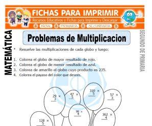 Problemas de Multiplicación para Segundo de Primaria