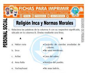 Religion Inca para Segundo de Primaria