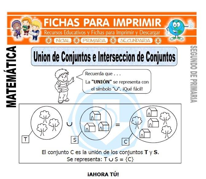 Unión de Conjuntos para Segundo de Primaria - Fichas para Imprimir