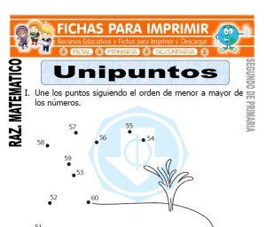 ficha de Unipuntos para Segundo de Primaria