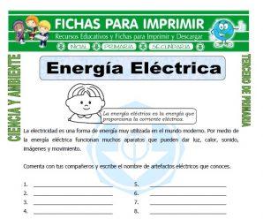 Energia Electrica para Tercero de Primaria