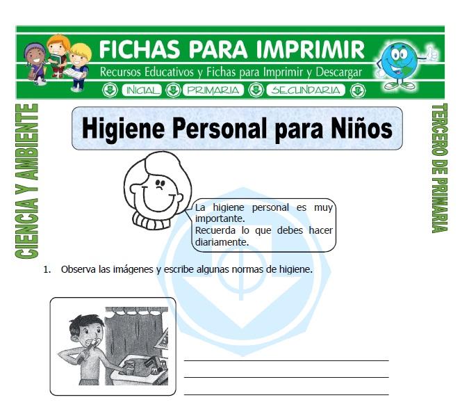 Higiene Personal para Niños para Tercero de Primaria
