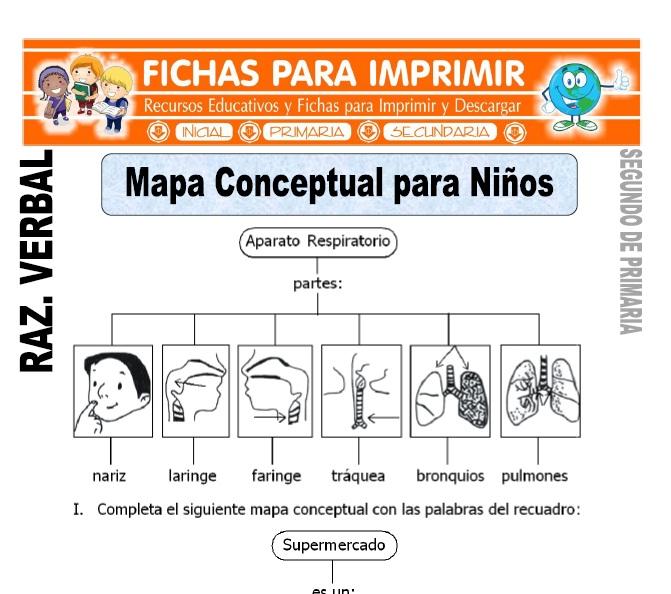 ficha de Mapa Conceptual para Niños para Segundo de Primaria