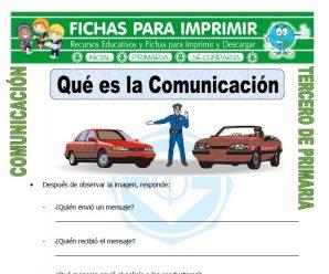 Qué es la Comunicación para Tercero de Primaria