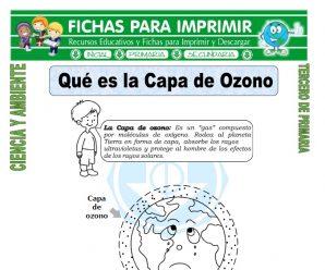 Que es la Capa de Ozono para Tercero de Primaria