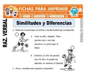 Similitudes y Diferencias para Segundo de Primaria