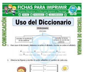 Uso del Diccionario para Tercero de Primaria