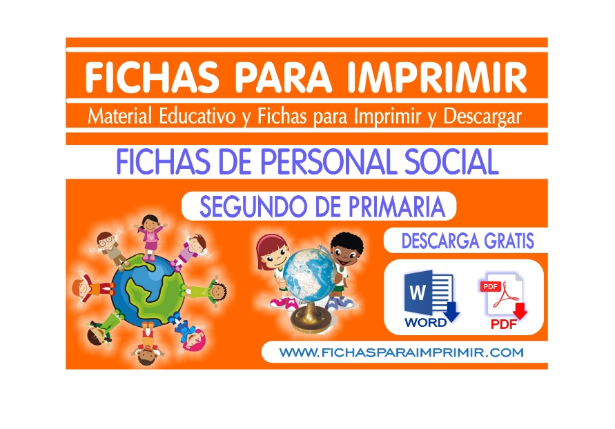 Personal Social para Niños de Segundo de Primaria - Fichas para Imprimir