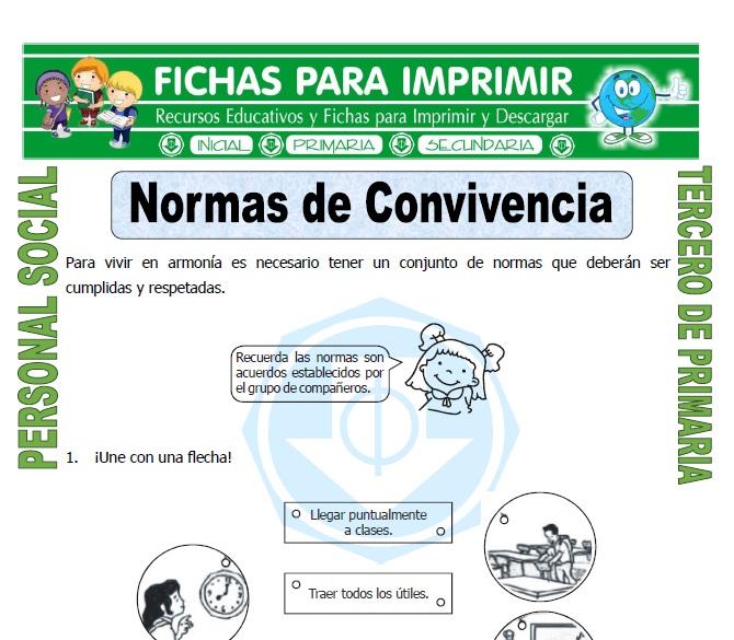 Ficha de Ejemplos de Valores para Tercero de Primaria