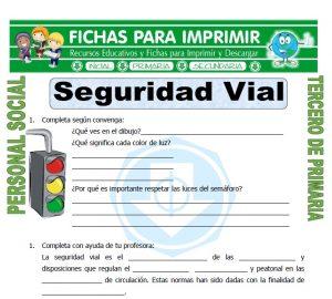 Ficha de Educacion Vial para Tercero de Primaria