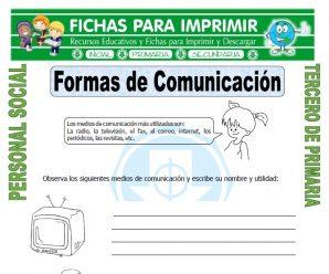 Funcion de los Medios de Comunicacion para Tercero de Primaria