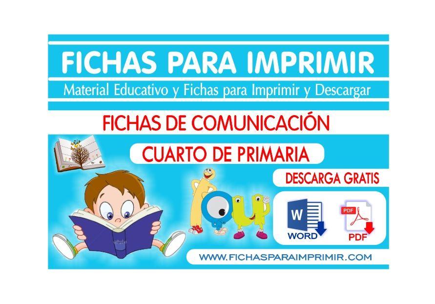 Comunicacion integral para cuarto de primaria fichas for Cuarto primaria