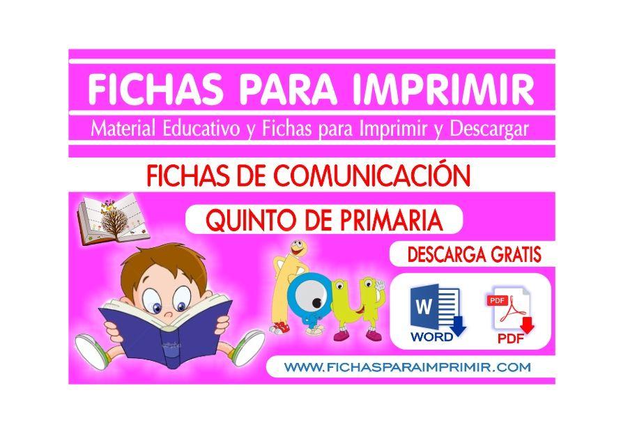 Comunicacion Integral Para Niños De Quinto De Primaria Gratis