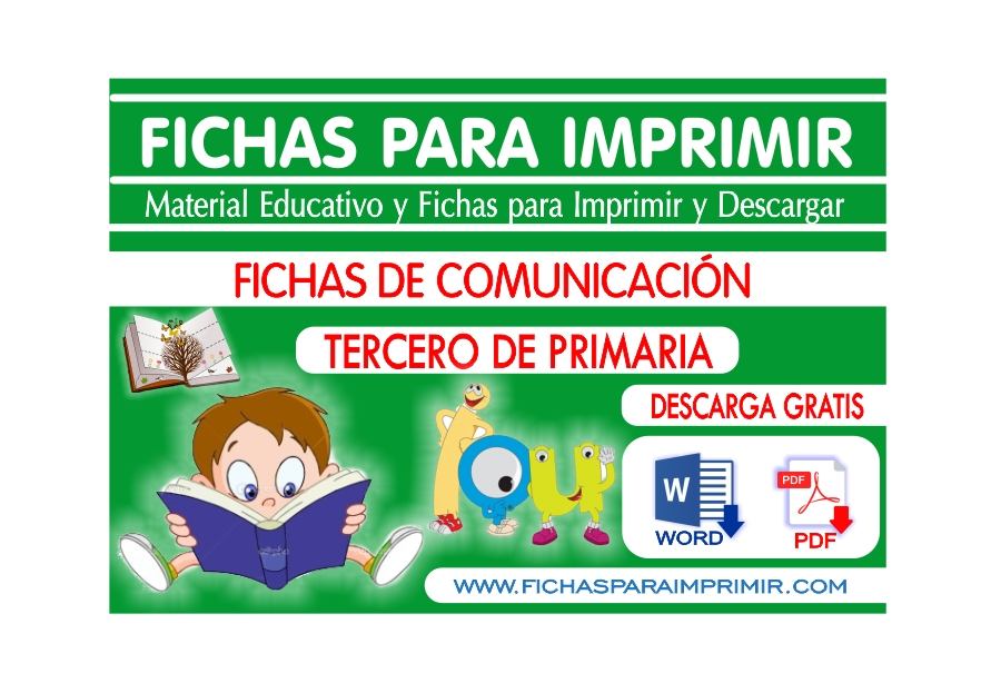 Comunicacion para Niños de Tercero de Primaria - Fichas para Imprimir