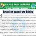 Cavando en Busca de una Bicicleta para Tercero de Primaria