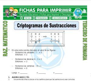 Ficha de Criptograma para Tercero de Primaria