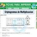 Criptogramas de Multiplicacion para Tercero de Primaria