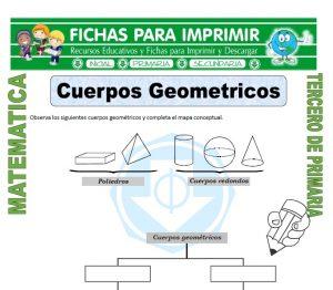 ficha de Cuerpos Geometricos para Tercero de Primaria
