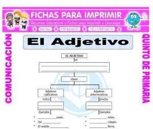 Ficha de Ejemplos de Adjetivos para Quinto de Primaria