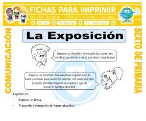 Elementos de la Exposicion para Sexto de Primaria