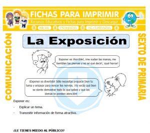 Ficha de Elementos de la Exposicion para Sexto de Primaria