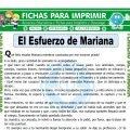 El Esfuerzo de Mariana para Tercero de Primaria