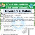 El Leon y el Raton para Tercero de Primaria