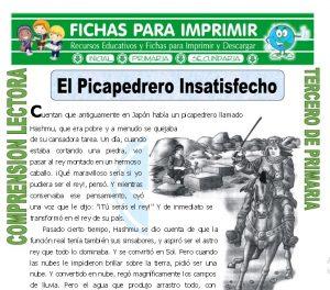 ficha de El Picapedrero Insatisfecho para Tercero de Primaria