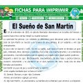 El Sueño de San Martin para Tercero de Primaria