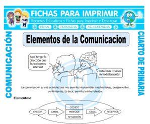 Elementos de la Comunicacion para Cuarto de Primaria