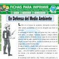 En Defensa del Medio Ambiente para Tercero de Primaria