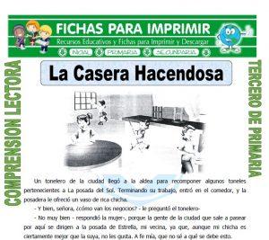 ficha de La Casera Hacendosa para Tercero de Primaria
