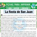 La Fiesta de San Juan para Tercero de Primaria