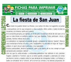 ficha de La Fiesta de San Juan para Tercero de Primaria