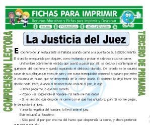 La Justicia del Juez para Tercero de Primaria