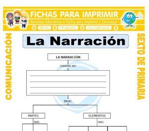 Ficha de La Narracion para Sexto de Primaria
