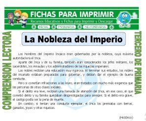 La Nobleza del Imperio para Tercero de Primaria