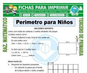 Perimetro para Niños para Tercero de Primaria