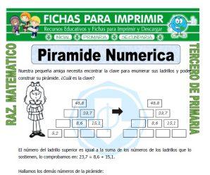 Piramide Numerica para Tercero de Primaria