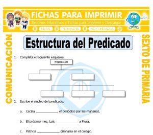 Ficha de Predicado para Sexto de Primaria