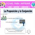 Preposiciones y Conjunciones para Quinto de Primaria