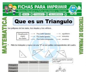 Que es un Triangulo para Tercero de Primaria