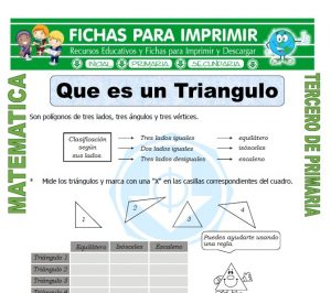 ficha de Que es un Triangulo para Tercero de Primaria