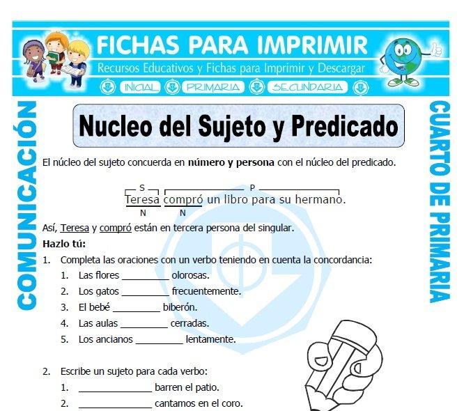 Comunicacion Integral para Cuarto de Primaria - Fichas para Imprimir
