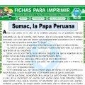 Sumac la Papa Peruana para Tercero de Primaria