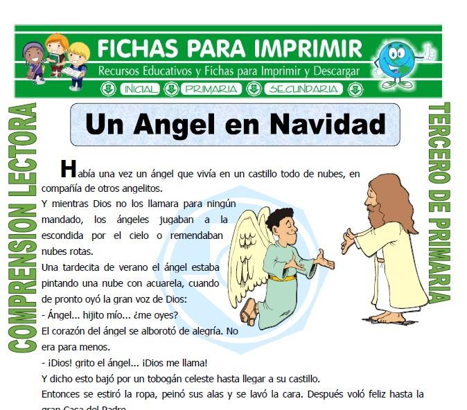 ficha de Un Angel en Navidad para Tercero de Primaria