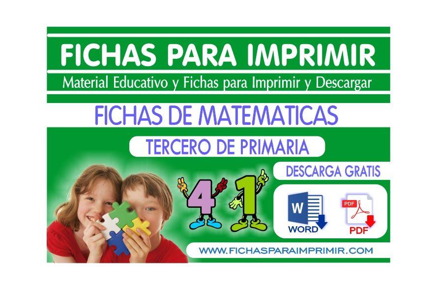 Problemas de Matematicas para Tercero de Primaria - Fichas Gratis