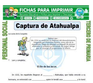 Ficha de Captura de Atahualpa para Tercero de Primaria