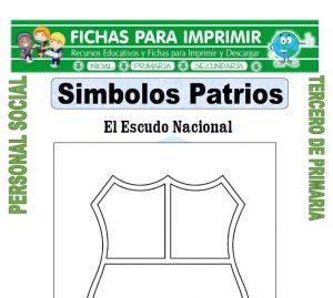 Ficha de Cuales son los Simbolos Patrios para Tercero de Primaria